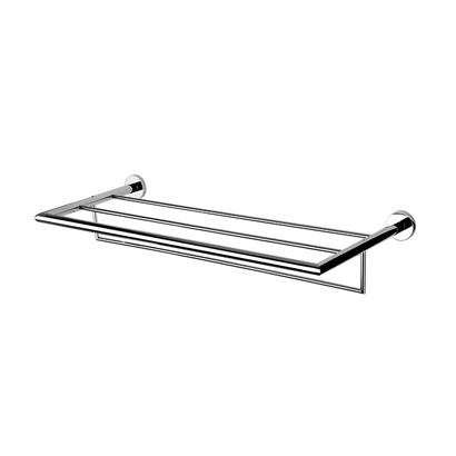 Train Rack, Geesa 6552-02, Chrome Towel Rack or Towel Shelf with Towel Bar