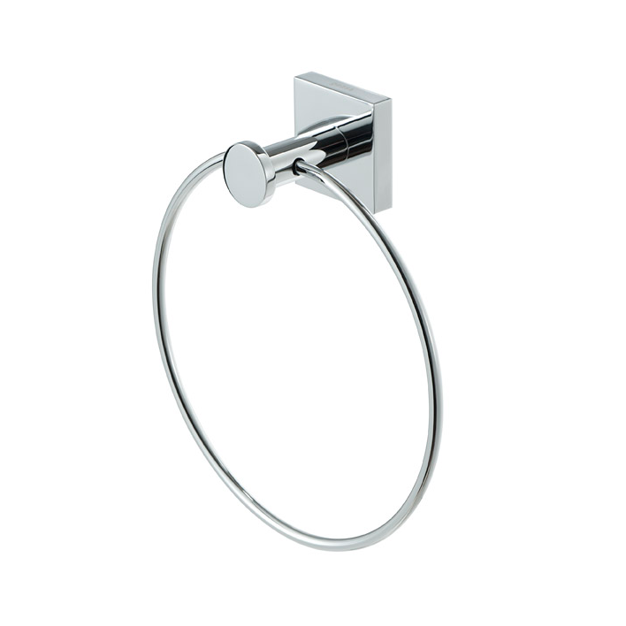 Towel Ring, Geesa 6804-02, Chrome Brass Towel Ring