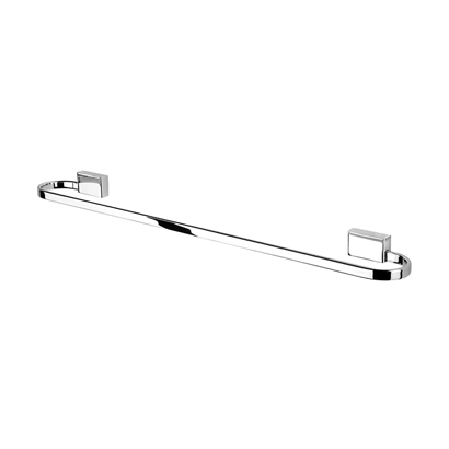 Towel Bar, Geesa 7007, 24 Inch Modern Chrome Towel Bar