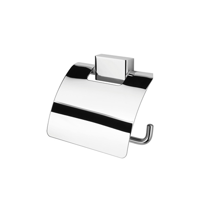 Toilet Paper Holder, Geesa 7008, Polished Chrome Toilet Roll Holder with Cover