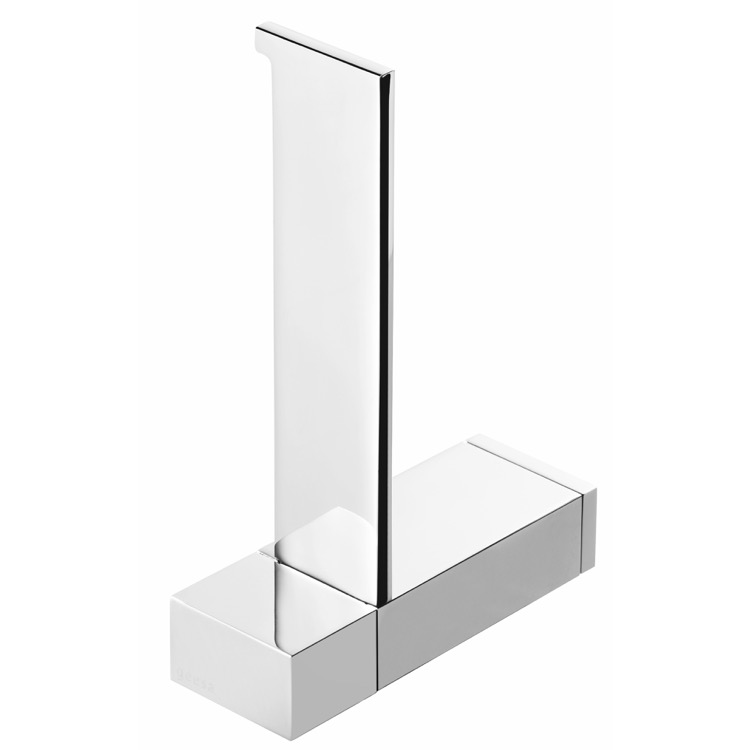 Toilet Paper Holder, Geesa 3512-02, Rectangle Wall Mounted Chrome Toilet Paper Holder