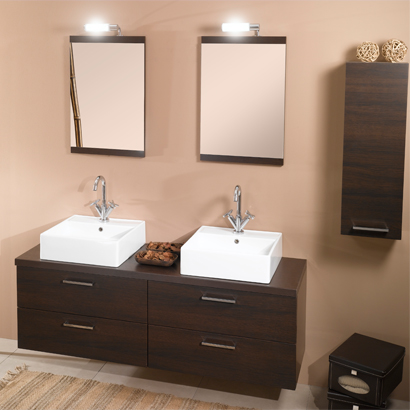Bathroom Vanity, Iotti A11, 61 Inch Bathroom Vanity Set