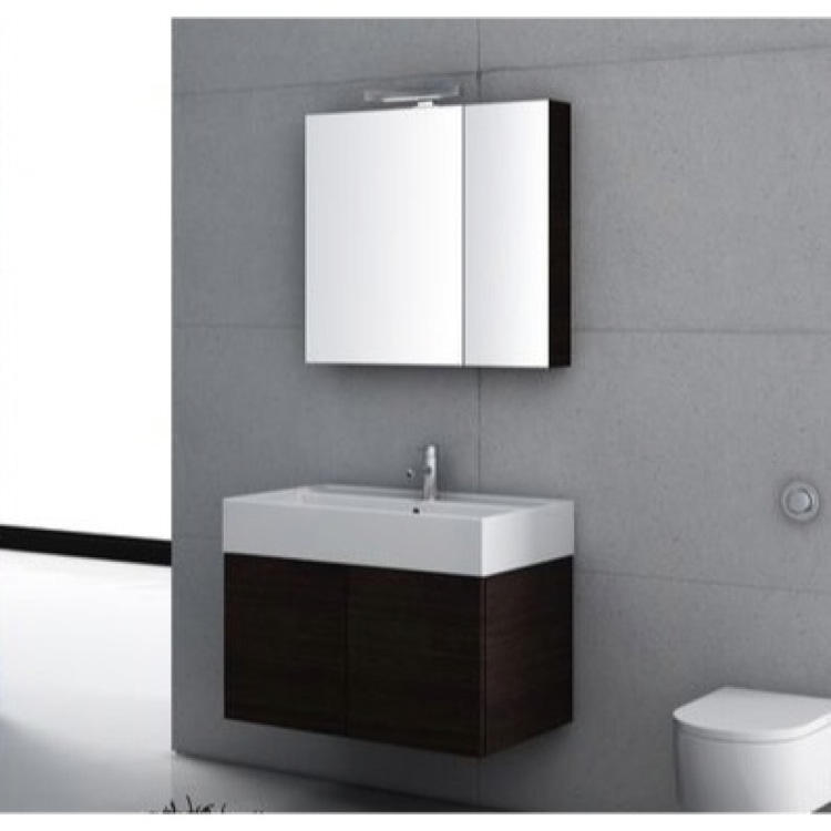 Bathroom Vanity, Iotti SM06-Wenge, 32 Inch Bathroom Vanity Set