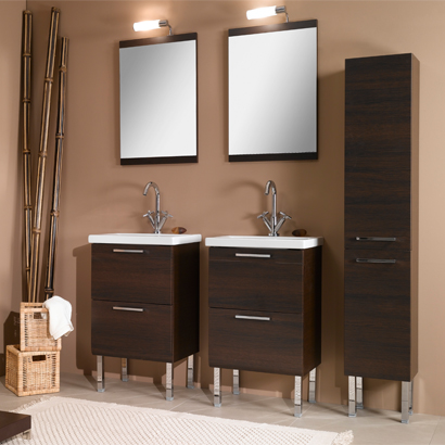 Bathroom Vanity, Iotti L11, 19 Inch Dual Bathroom Vanity Set