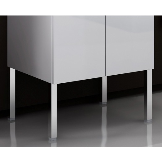 Vanity Foot, ACF A920, Kit of 4 Polished Chrome Vanity Cabinet Feet