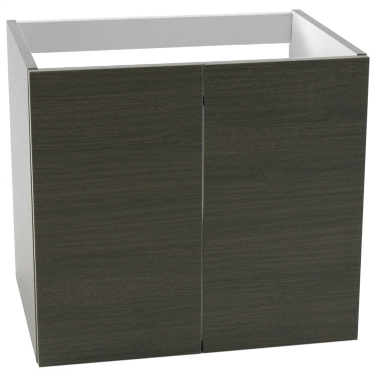 Vanity Cabinet, Iotti MS03, 23 Inch Wall Mount Grey Oak Bathroom Vanity Cabinet