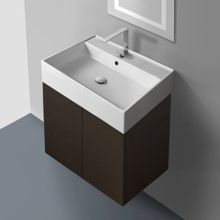 Bathroom Vanity, Iotti SM01C, 23 Inch Vanity Cabinet with Self Rimming Sink