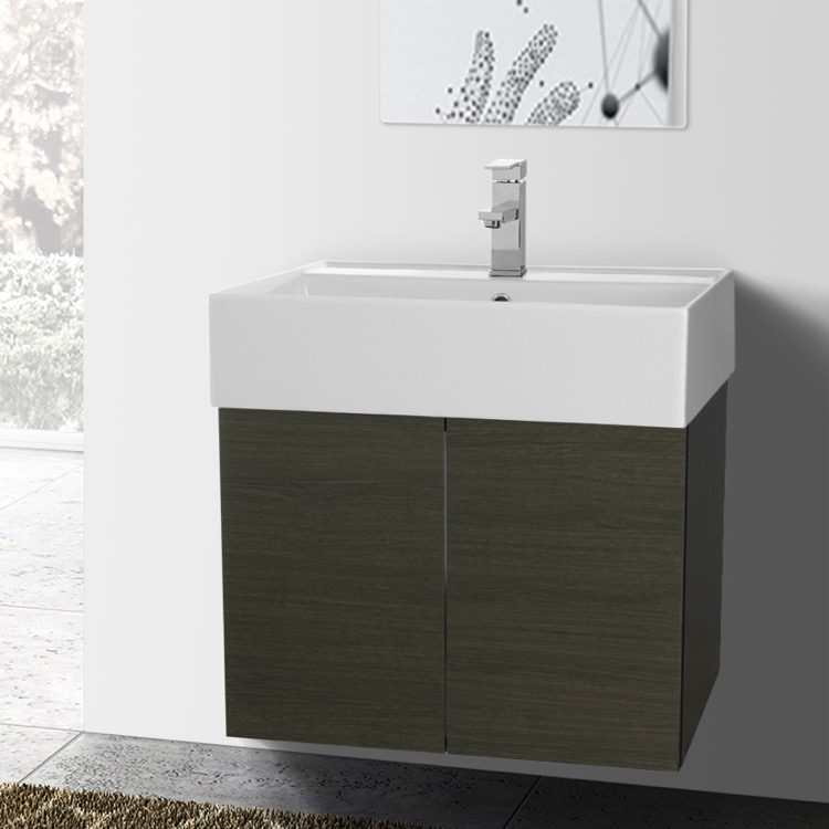 Bathroom Vanity, Iotti SM01C, 2 Doors Vanity Cabinet with Self Rimming Sink