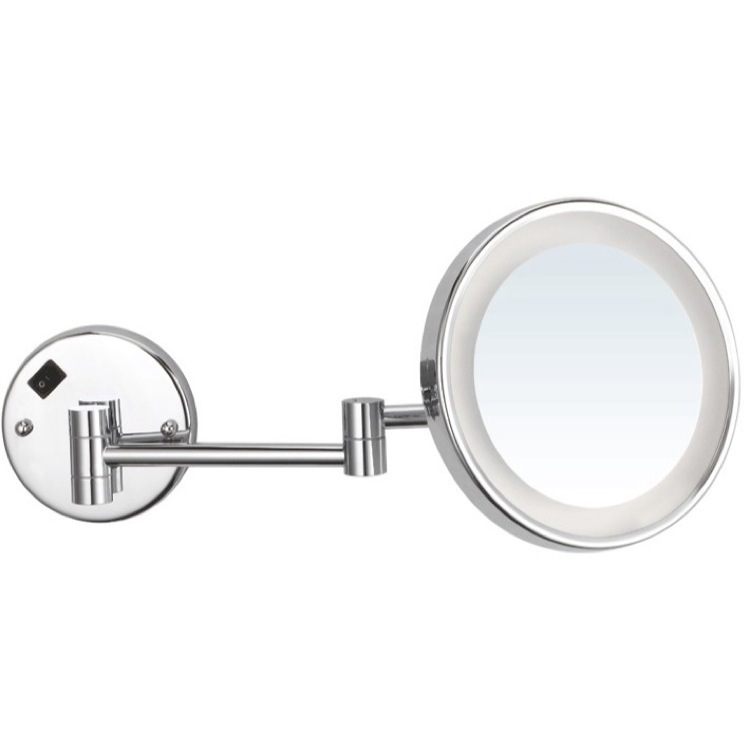 Makeup Mirror, Nameeks AR7703-CR-3x, Round Wall Mounted 3x Magnifying Mirror with LED, Hardwired