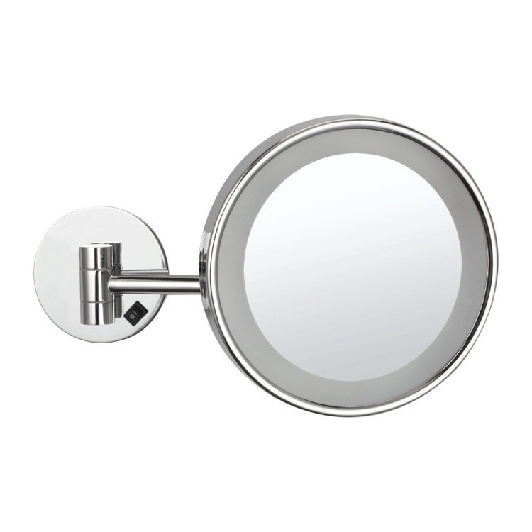Makeup Mirror, Nameeks AR7704, Wall Mounted Single Face 3x Makeup Mirror with LED, Hardwired