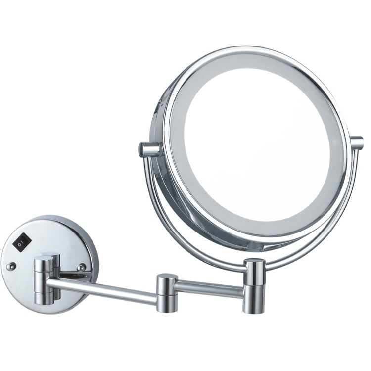 Makeup Mirror, Nameeks AR7705-CR-7x, Double Face Round LED 7x Magnifying Mirror, Hardwired