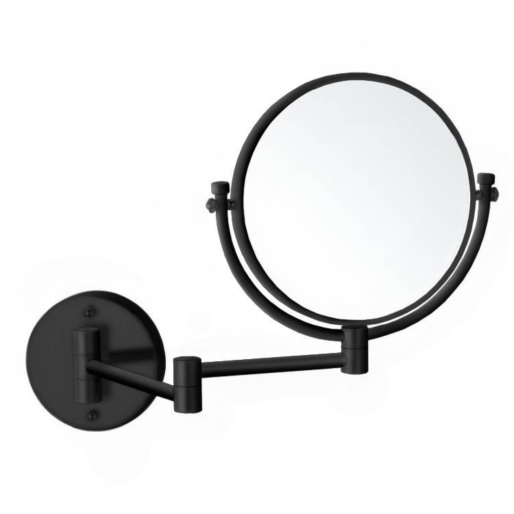 Makeup Mirror, Nameeks AR7707-BLK-5x, Matte Black Double Sided Wall Mounted 5x Makeup Mirror