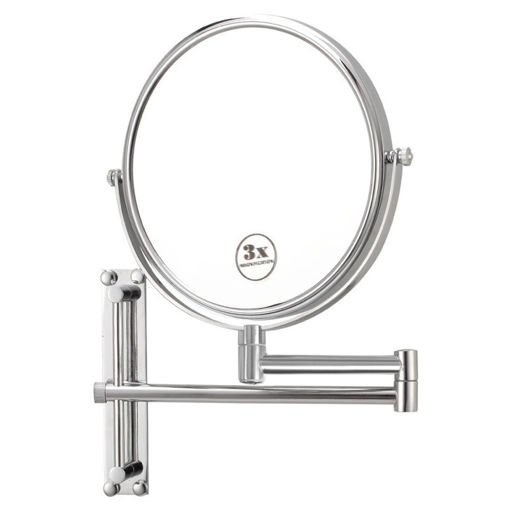 Makeup Mirror, Nameeks AR7708, Round Wall Mounted Double Face 3x Shaving Mirror