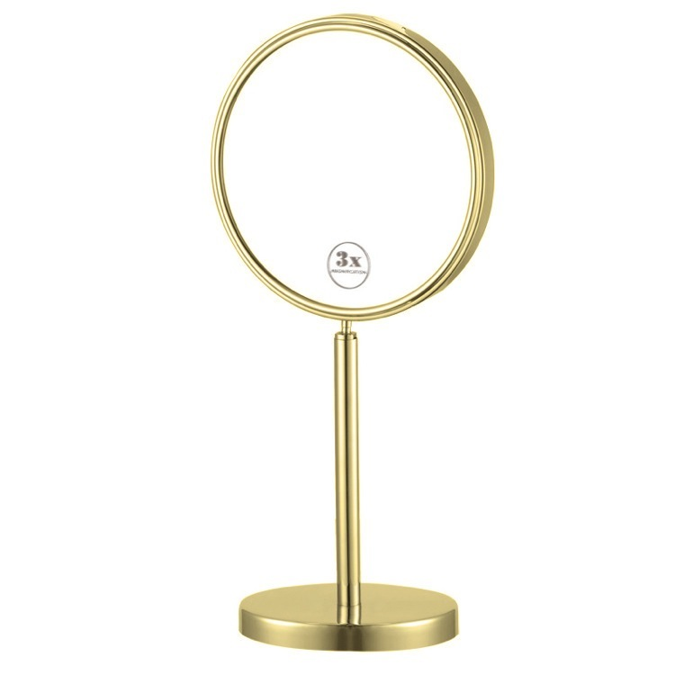 Makeup Mirror, Nameeks AR7716-O-3x, Gold Double Sided Free Standing 3x Makeup Mirror