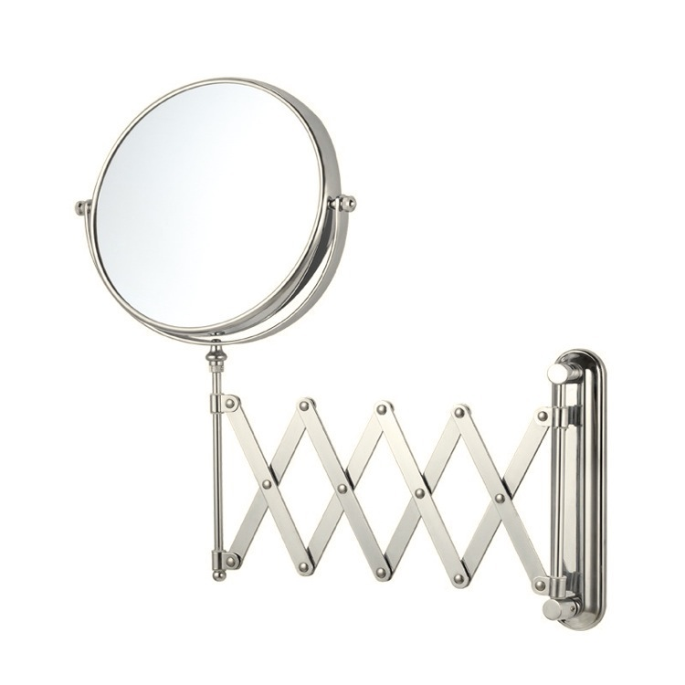 Makeup Mirror, Nameeks AR7720-SNI-3x, Satin Nickel Double Sided Adjustable Arm 3x Shaving Mirror