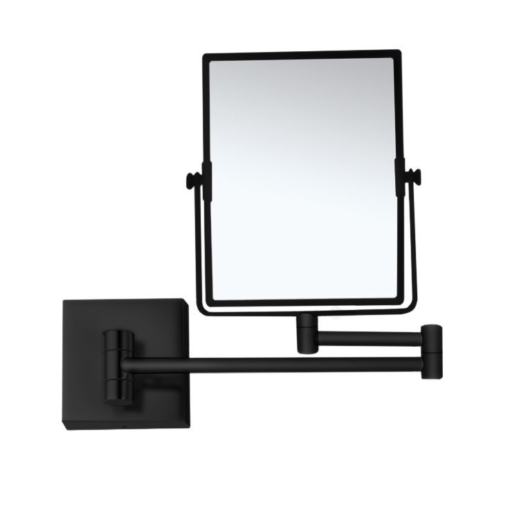 Makeup Mirror, Nameeks AR7721-BLK-7x, Matte Black Double Face 7x Wall Mounted Magnifying Mirror