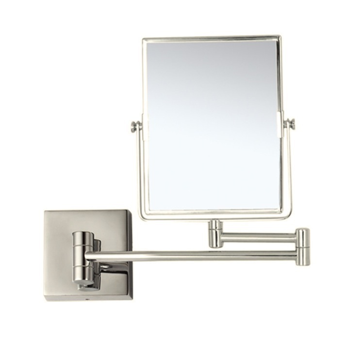 Makeup Mirror, Nameeks AR7721-SNI-3x, Satin Nickel Double Face 3x Wall Mounted Magnifying Mirror