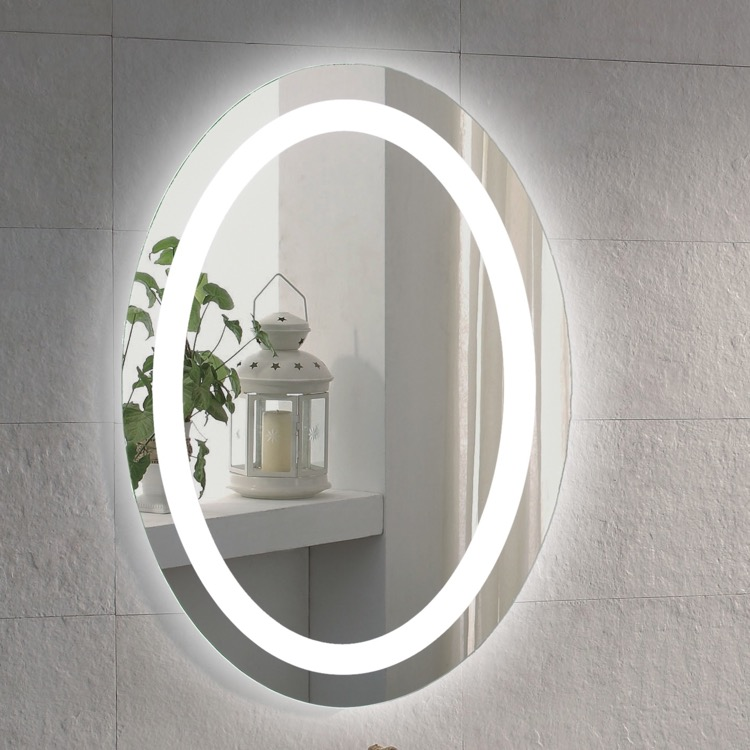 Vanity Mirror, Nameeks ARROV, 20 x 28 Inch Illuminated Oval Vanity Mirror