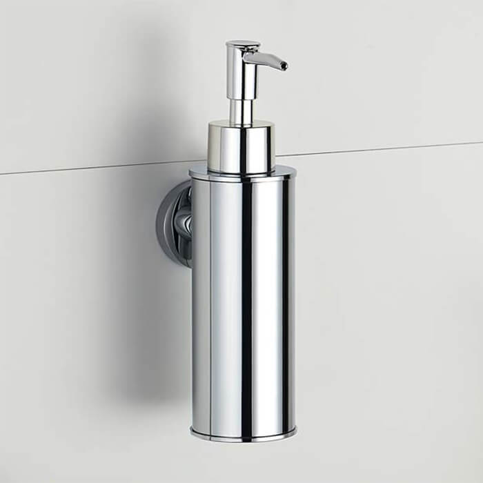 Soap Dispenser, Nameeks NCB86, Wall Mounted Round Chrome Soap Dispenser
