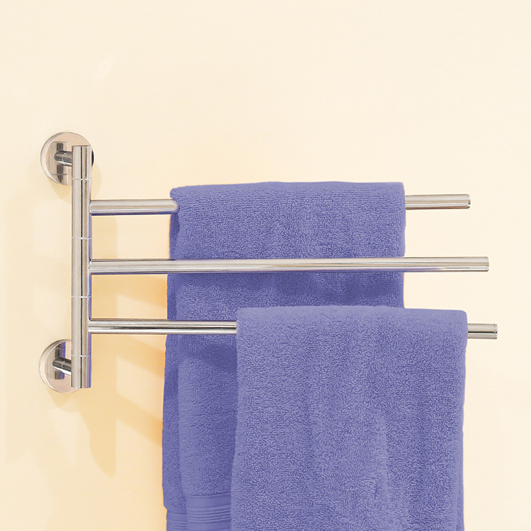 Towel Bar, Nameeks NFA009, 14 Inch Triple Swivel Towel Bar