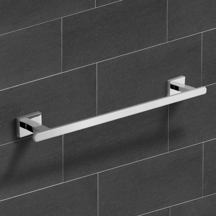 Towel Bar, Nameeks NCB23, 18 Inch Modern Chrome Towel Bar