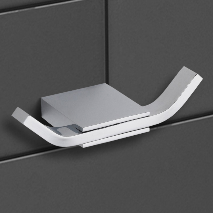 Bathroom Hook, Nameeks NCB33, Modern Chrome Double Hook
