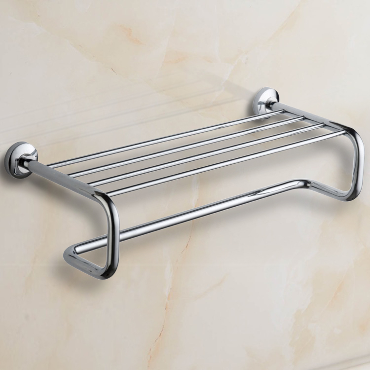 Train Rack, Nameeks NCB47, Polished Chrome Towel Rack