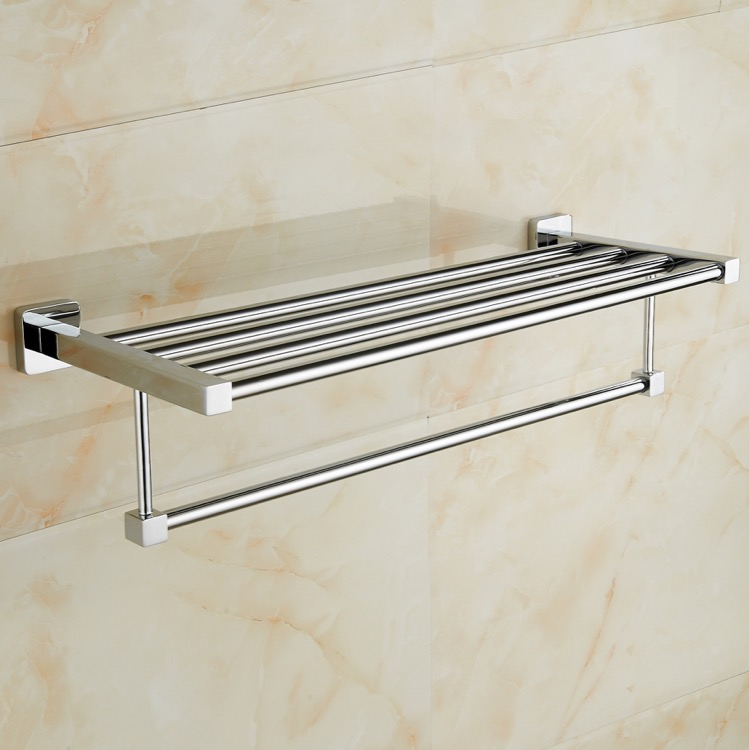 Train Rack, Nameeks NCB49, Polished Chrome Towel Rack