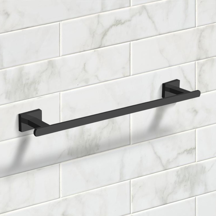 Towel Bar, Nameeks NCB60, 18 Inch Matte Black Towel Bar