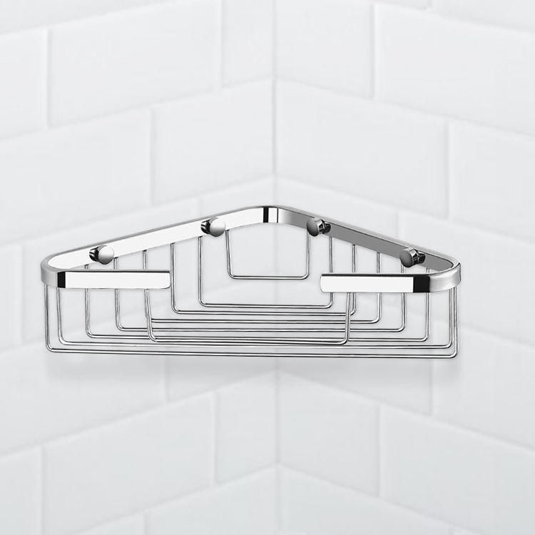 Shower Basket, Nameeks NFA023, Chrome Corner Shower Basket