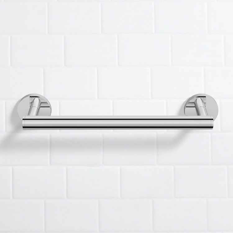 Grab Bar, Nameeks NNBL0010, 14 Inch Polished Chrome Grab Bar