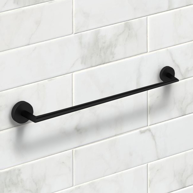 Towel Bar, Nameeks NNBL0081, 24 Inch Matte Black Towel Bar