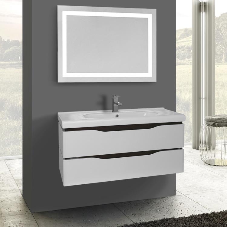 bathroom finish vessel sink avola espresso vanity inch