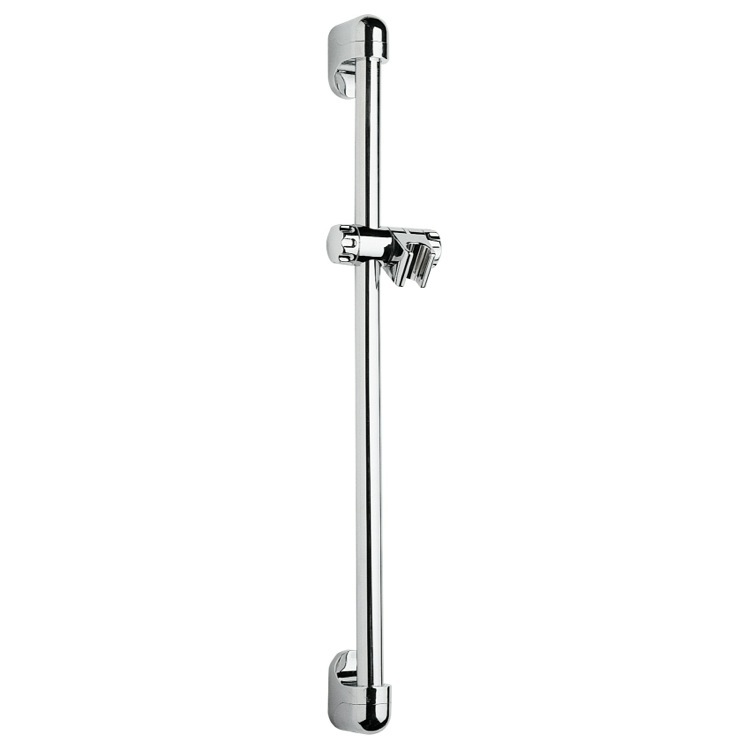Shower Slidebar, Remer 311D, Chrome Wall-Mounted 24 Inch Sliding Rail