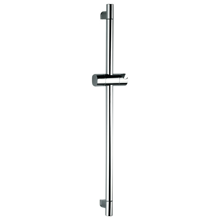 Shower Slidebar, Remer 315R, 27 Inch Minimalist Chrome Sliding Rail