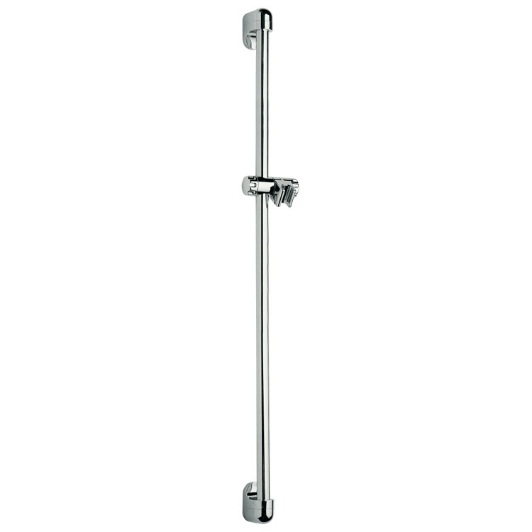Shower Slidebar, Remer 319D, Long 37 Inch Wall-Mounted Sliding Rail In Chrome Finish
