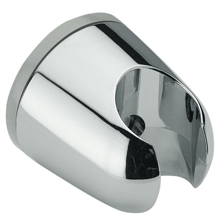 Hand Held Shower Bracket, Remer 339F, Wall-Mounted Shower Bracket Made in a Chrome Finish