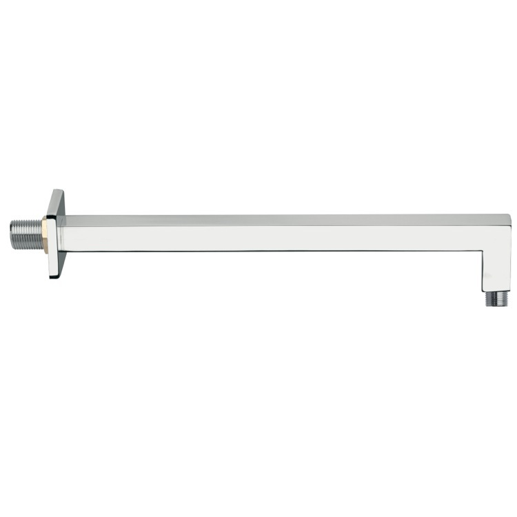 Shower Arm, Remer 348S30US, Wall-Mounted Squared Shower Arm With Square Wall Flange