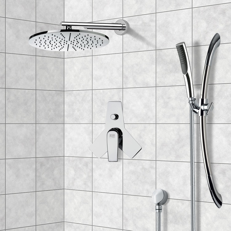 Shower Faucet, Remer A09VS07US, Chrome Shower System with 12