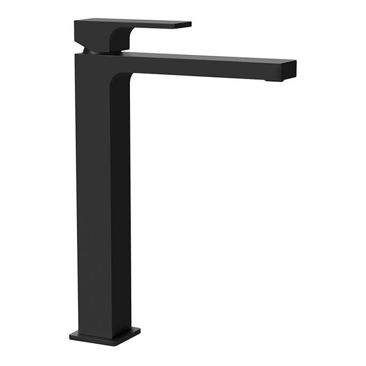 Bathroom Faucet, Remer AU10LUSNL-NO, Modern Vessel Sink Faucet in Matte Black