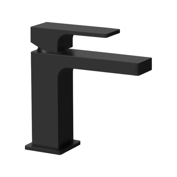 Bathroom Faucet, Remer AU11USNL-NO, Modern Single Handle Bathroom Faucet in Matte Black