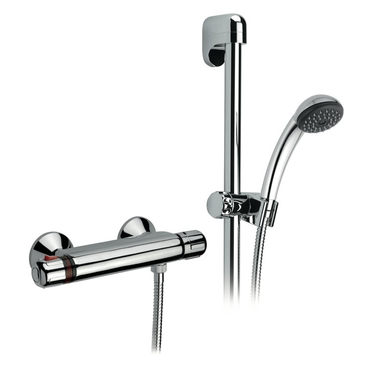 Shower Faucet, Remer H39US, Thermostatic Shower Mixer With Hand Shower and Sliding Rail