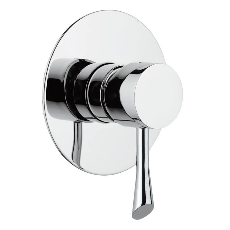 Mixer, Remer J30L, Built-In Shower Mixer With Single Lever and Deluxe Flange