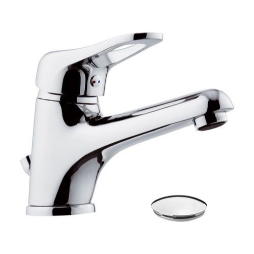 Bathroom Faucet, Remer K10LP, Single-Lever Bathroom Faucet With Long Spout and Pop-Up Waste