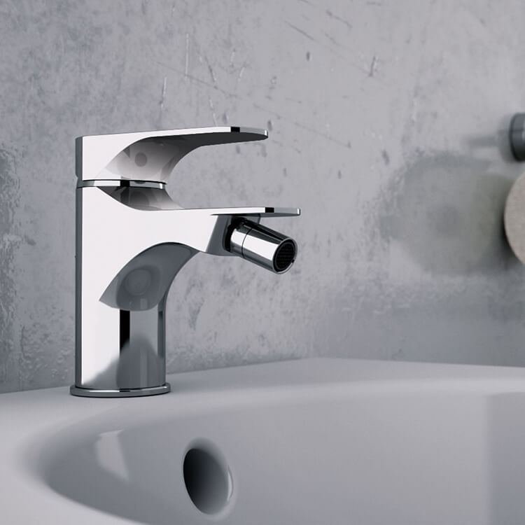 Bidet Faucet, Remer L21US, Chrome Deck Mount Bidet Mixer