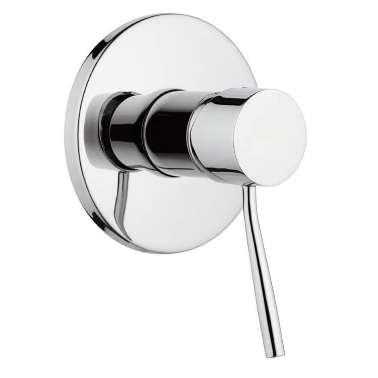 Mixer, Remer N30, Plated-Brass Shower Mixer With Single Lever