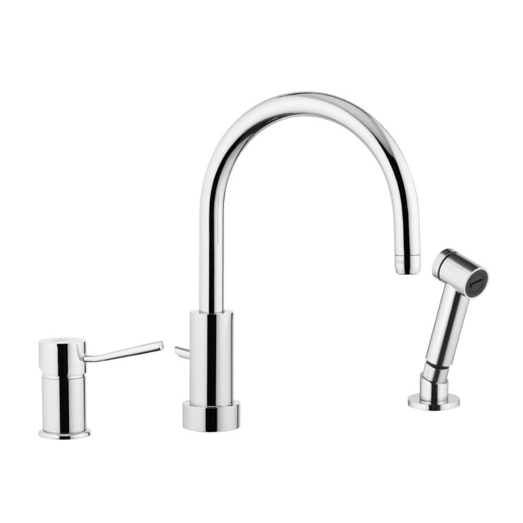 Kitchen Sink Faucet, Remer N48332EU, Chrome Widespread Bathroom Sink Faucet