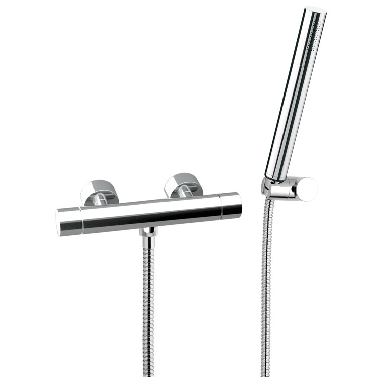 Shower Faucet, Remer NT39US, Thermostatic Shower Mixer With Hand Shower and Bracket