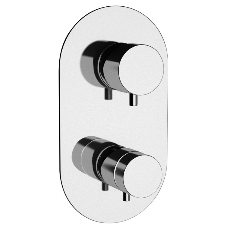 Diverter, Remer NT93US-CR, Built-in Thermostatic 3-Way Shower Diverter