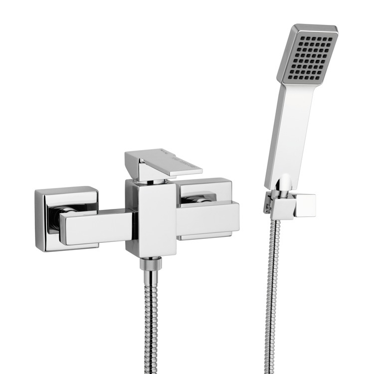 Shower Faucet, Remer Q39US, Wall Mounted Shower Mixer with Hand Shower and Bracket